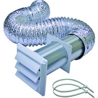 Lambro 1369W Louvered Dryer Vent Kit