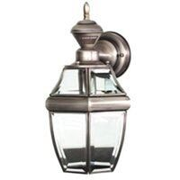 Motion Activated Carriage Light, Antique Silver
