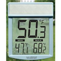 La Crosse WT-62U-TBP Digital Window Thermometer