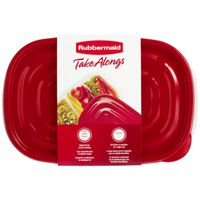 TakeAlongs 7F57 Divided Rectangle 3-Piece Food Storage Container Set