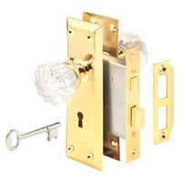 Prime Line E-2311 Victorian Keyed Mortise Lock Set