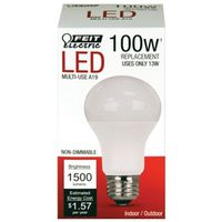 Feit A1600/830/10KLED Led Bulbs, A19 ? Non-Dimmable, 13W/100W Equiv