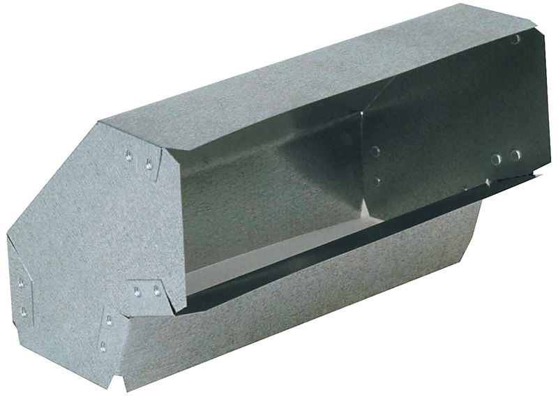 Imperial gv c flat shortway wall stack elbow