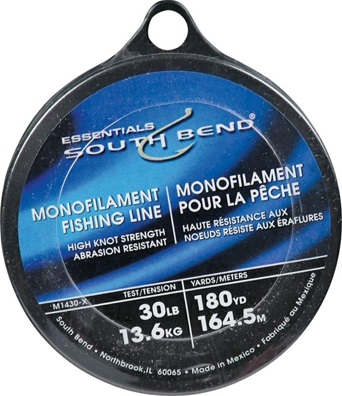 South bend m1430 all purpose small diameter monofilament for 30 lb fishing line