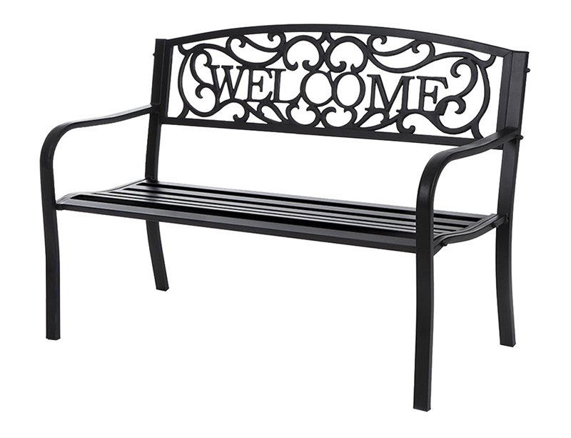 Seasonal Trends 69337 Essentials Welcome Park Bench Metal