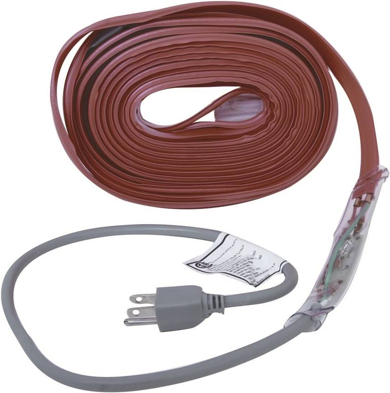 Heating Cord For Pipes : Md pipe heating cable with thermostat ft deg f