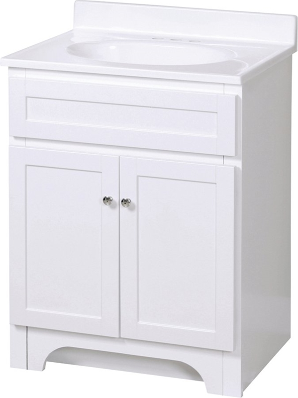 Bathroom Vanity White 24x18