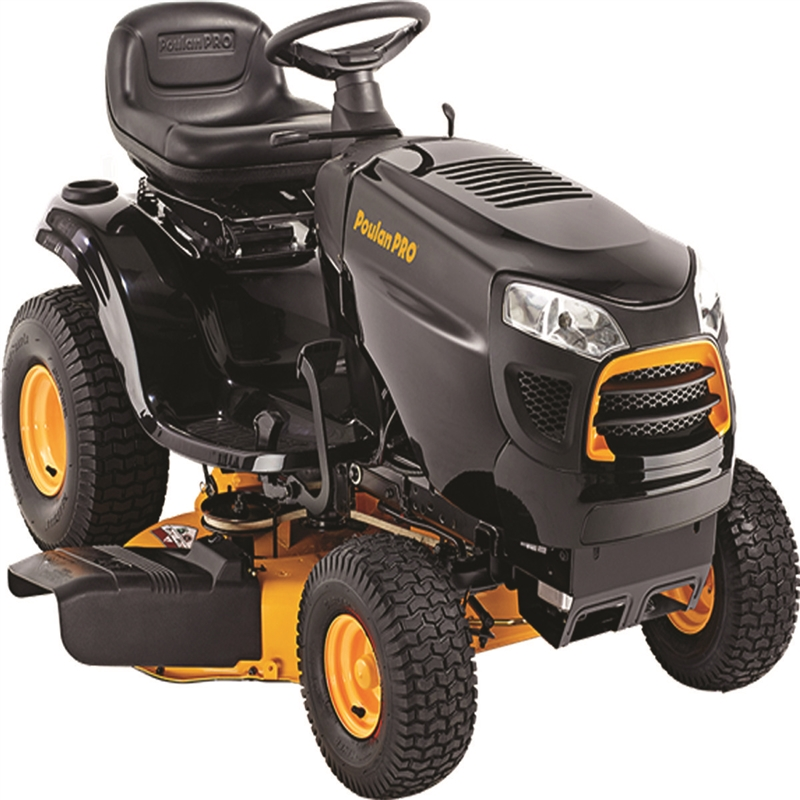 Poulan Pro PP19A42 Lawn Tractor, 42 in W x 1-1/2 - 4 in H ...