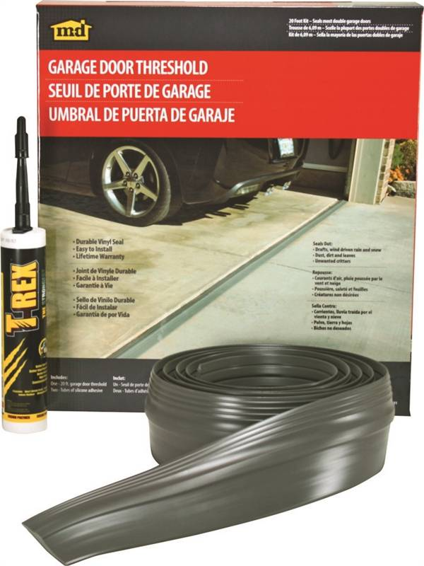 M D 50101 Double Garage Door Threshold Kit 20 Ft L Vinyl