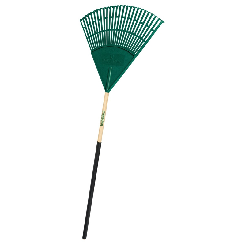 Mintcraft 33273 Lawn Leaf Rake With Handle 26 Tine 48 In