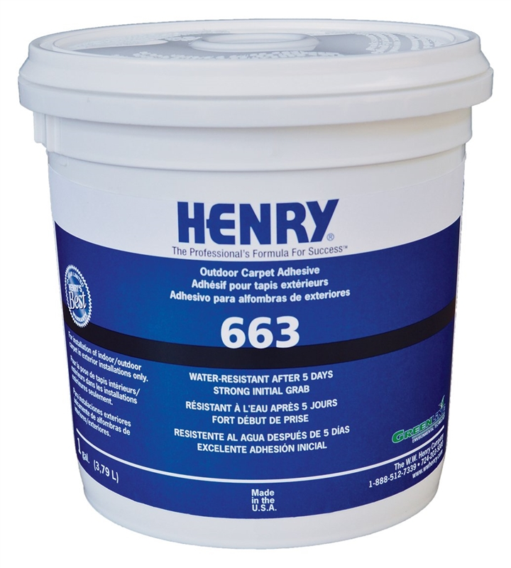 WW Henry 663 044 Carpet Adhesive Outdoor Gallon