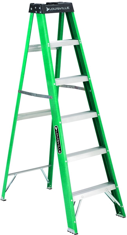 Louisville Fs4006 Commercial Step Ladder 225 Lb 3 In Non
