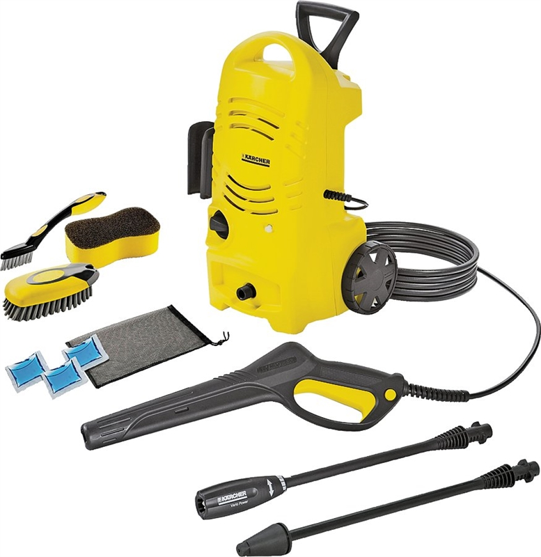 Karcher Corded Electric Pressure Washer With Car Care Kit 1 3 Gpm 1600 Psi 120