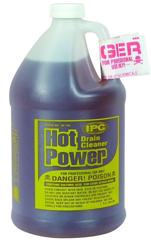 Drain Cleaner Hot Power Gal Case Of 4