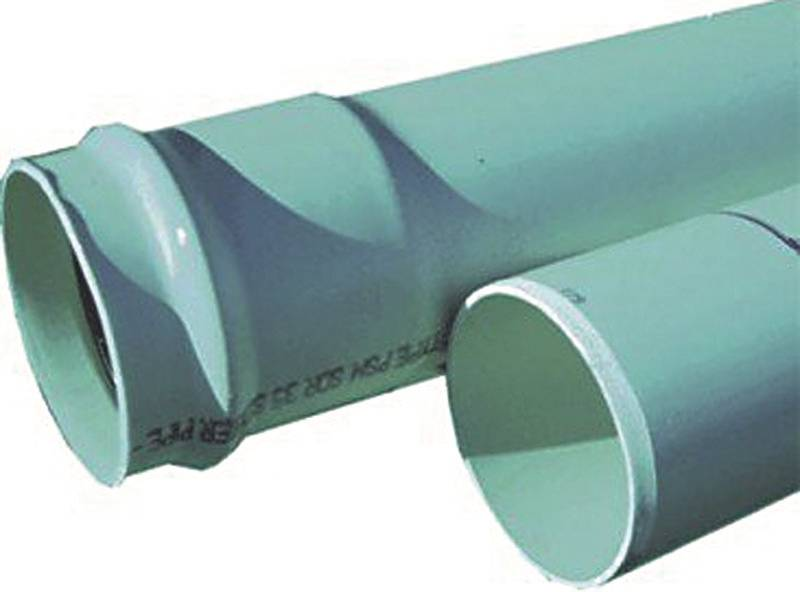 Genova 400 Solid Sewer And Drain Pipe With Green Gasket, 6