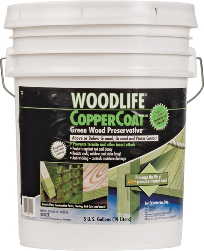 Wolman Coppercoat Woodlife Water Based Wood Preservative 5 Gal Container Brush Roller Pump