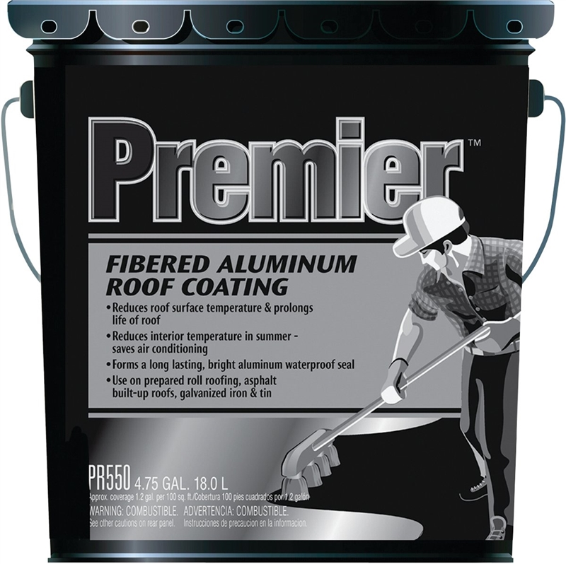 Henry Premier Fibered Aluminum Roof Coating 4 75 Gal