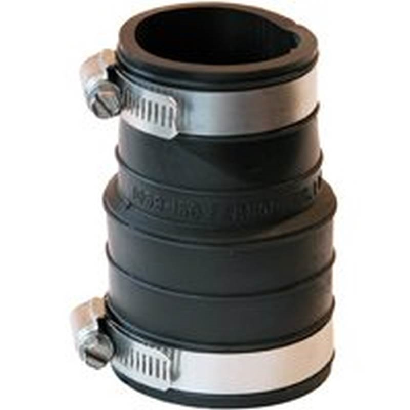 Fernco flexible pipe coupling in