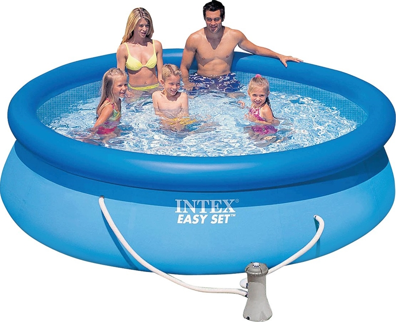 Easy Set 56921eh Deluxe Above Ground Pool 1018 Gal Capacity 10 Ft Dia 30 In H Vinyl