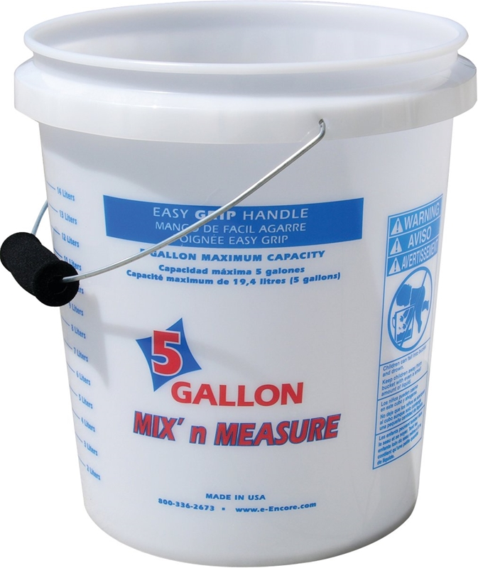 Mix n measure 350001 paint pail with foam grip handle 5 for 5 gallon bucket of paint price