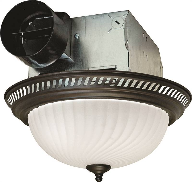 Air king drlc701 decorative round exhaust fan light combo 2 60 w 120 v 1 6 a 70 cfm for Air king bathroom fan light combo