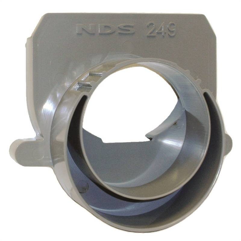 Nds 249 Offset Drain End Cap Adapter 5 In L X 5 In W X 6