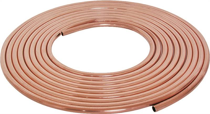Mueller 1 4x60l soft type l coil tubing 1 4 in 60 ft l for Copper pipe types