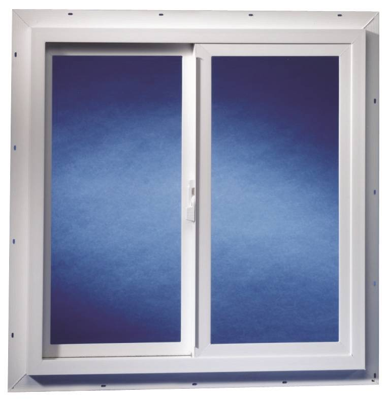 Duo corp 2020tmut double slider utility window 2 x 2 ft for Vinyl sliding windows