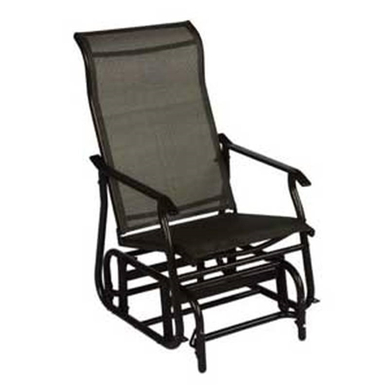 Glider sngl seat stl frm moch for Chaise bercante