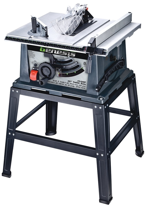 Table Saw Heavy Duty : Genesis gts sb heavy duty table saw with stand a