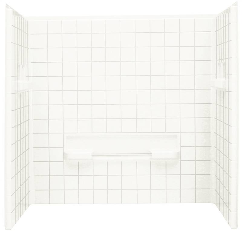 Sterling Advantage 6204 3 Piece Seated Shower Wall Set 60