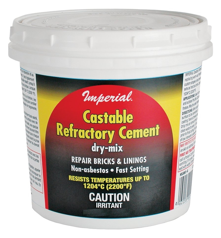 High Heat Mortar Mix : Imperial kk dry mix castable refractory cement