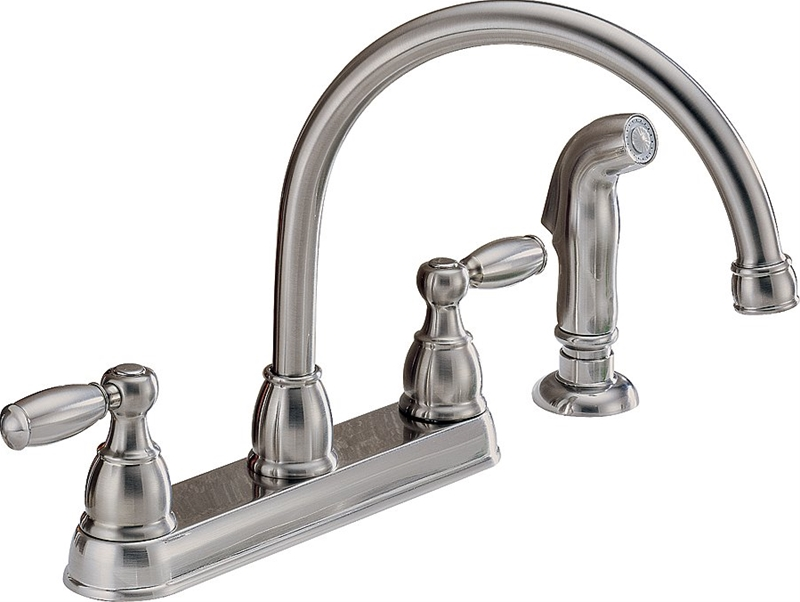 Peerless P LF SS Kitchen Faucet 8 1 8 in X 6 5 8 in