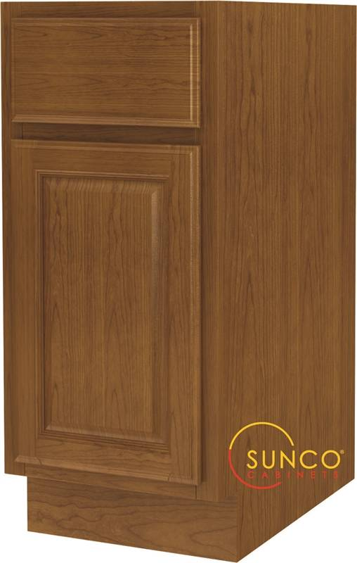 Randolph b15rt single door wide base kitchen cabinet with drawer 15 in w x 24 in d x 34 1 2 in for Car wax on kitchen cabinets