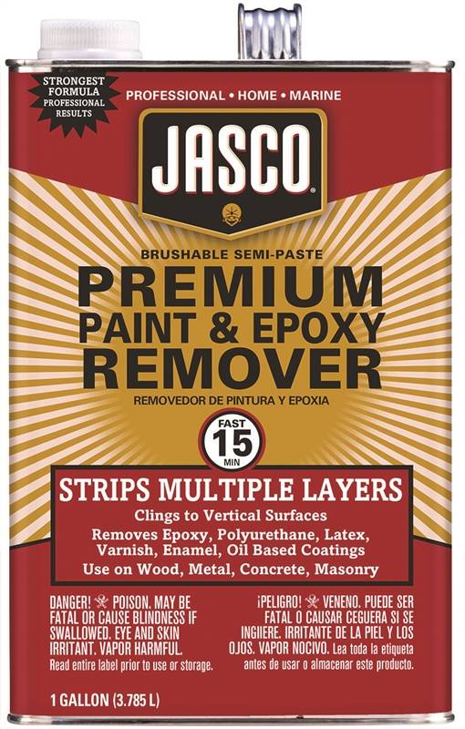 Final, sorry, Jasco paint stripper