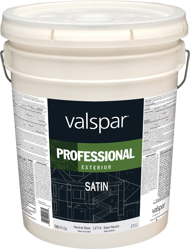 Valspar 12700 Professional Latex Paint 5 Gal Pail 350 450 Sq Ft Gal Neutral Base