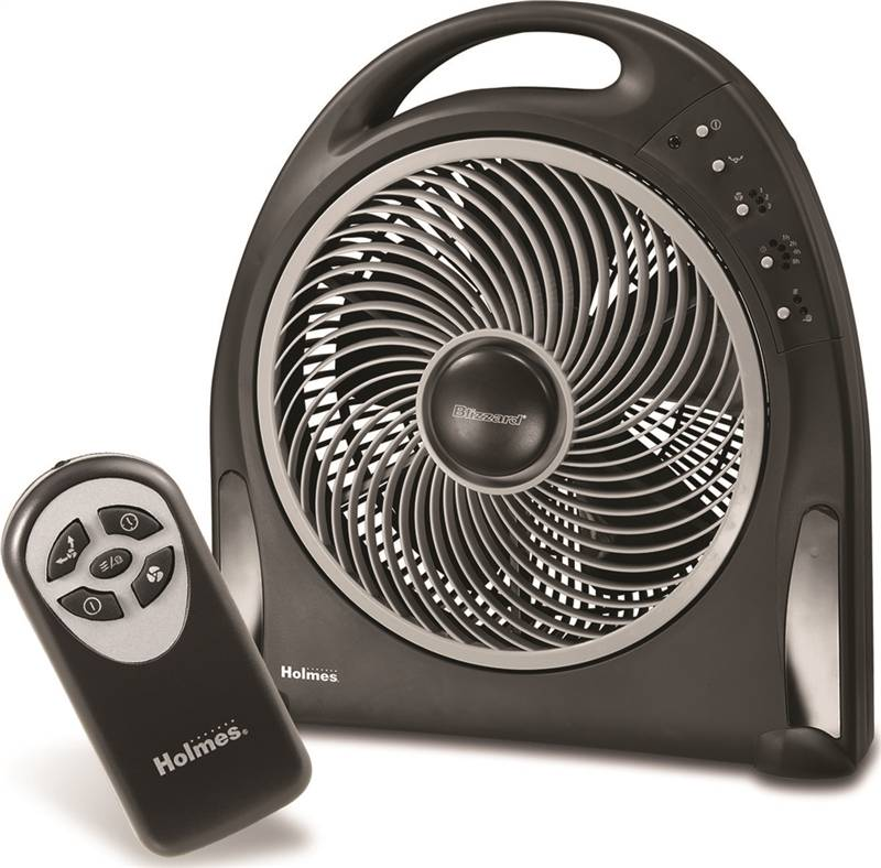 Remote Control Fans Table Top : Blizzard hapf r uc power fan with rotating grill black