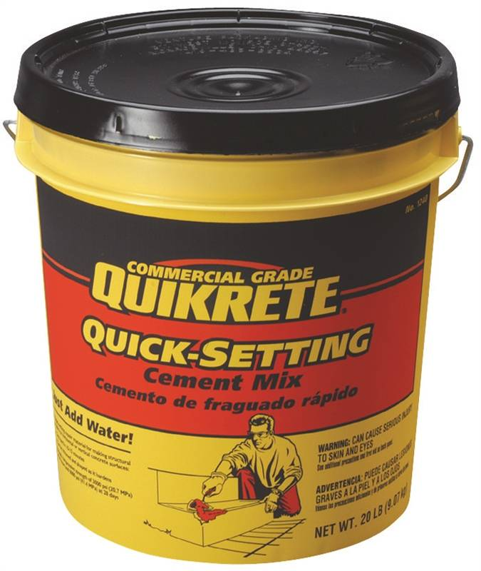 Quick Setting Cement : Quikrete quick setting concrete mix lb pail