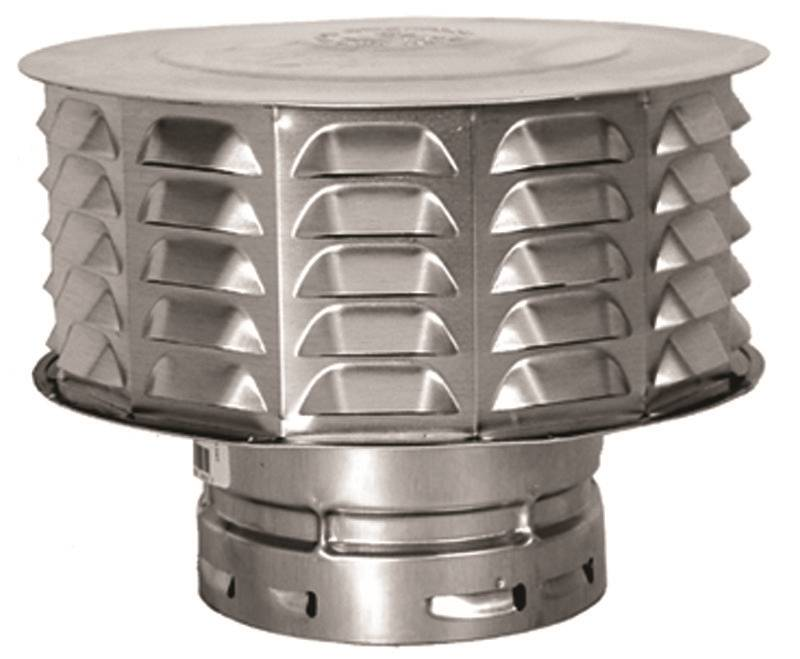 Amerivent 6ecw Double Wall Universal Gas Vent Cap 6 In
