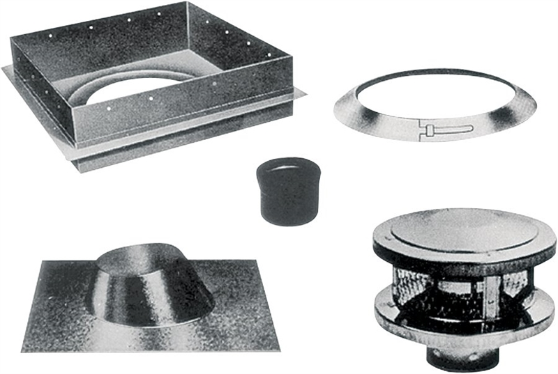 American Metal 6hs Rks 3 Wall Round Fuel Kit 5 Pieces 6 In
