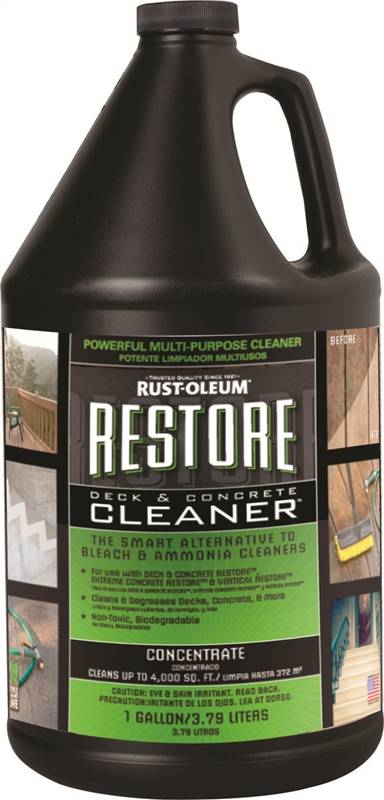 Rustoleum restore biodegradable deck and concrete cleaner for Deck and concrete cleaner