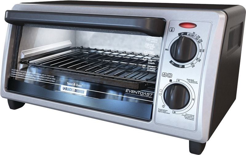 Black Amp Decker TO1322SBD Conventional Toaster Oven 4