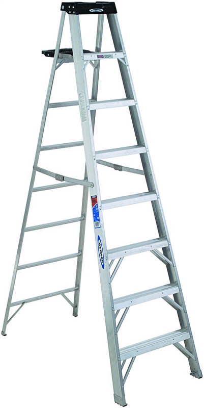 Werner 378 Single Sided Step Ladder With Pail Shelf 300