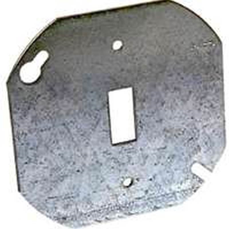 Raco 729 Flat Octagon Electrical Box Cover 4 In L X 4 In