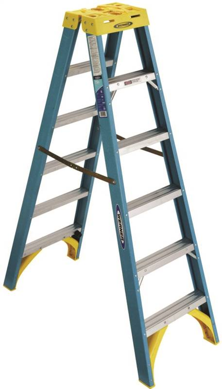 Werner T6006 Twin Ladder 250 Lb 3 In 3 1 8 In Front X 3