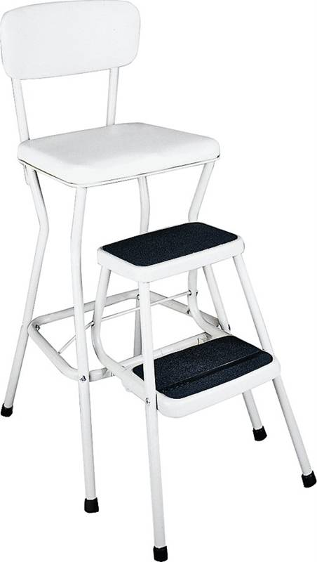 Cosco 11118wht Comfortable Chair Step Stool 34 449 In H X