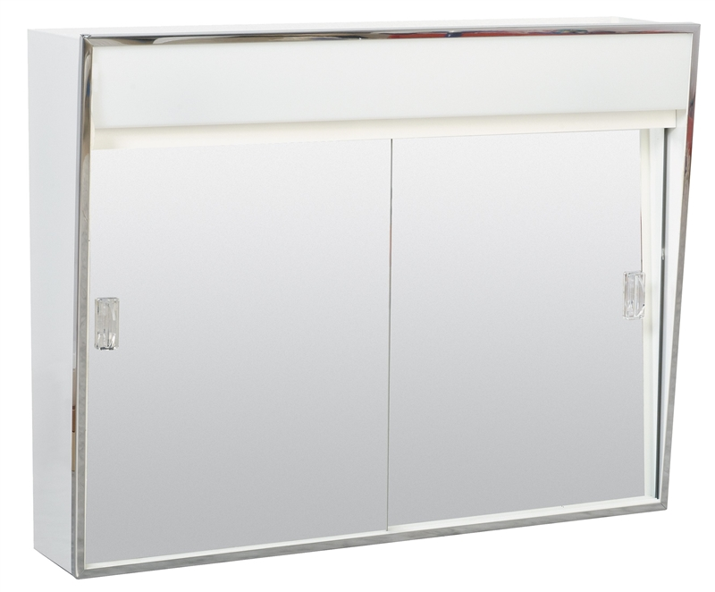Zenith 701L Lighted Sliding Door Medicine Cabinet With