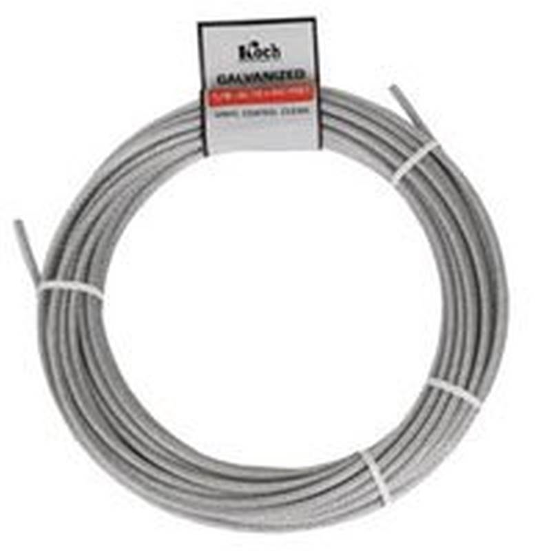 Koch A40124 Pre Cut Aircraft Cable 1 8 In Dia X 50 Ft L