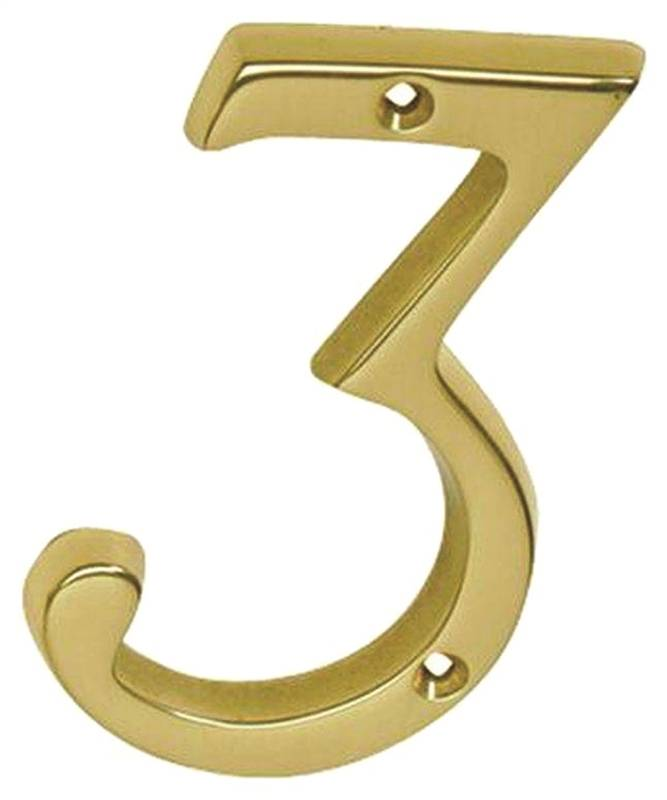 Schlage cs2 3036 605 3 classic traditional house number 3 for Classic house numbers