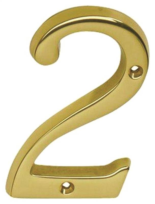 Schlage sc2 3026 605 2 classic traditional house number 2 for Classic house numbers